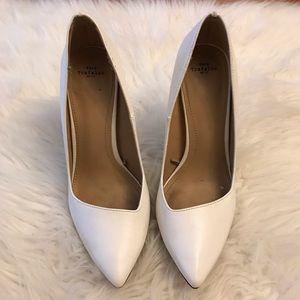 Zara White Asymmetrical Pump 38 7.5